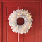 JCPenney General Foam Plastics 24 Pre-Lit White Alaskan Fir Wreath