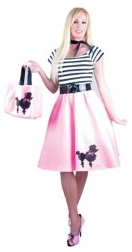 BuySeasons Women's Bubblegum Poodle Dress Adult Costume