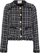 Walter Baker Baca Faux Leather-trimmed Boucle-tweed Jacket