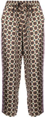 Pierre Louis Mascia Adanastr geometric-print silk trousers