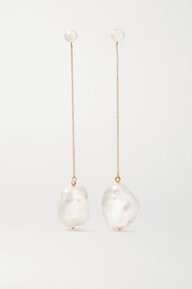 Mateo Duality 14-karat Gold Pearl Earrings - one size