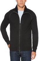 Perry Ellis Solid Full Zip Sweater