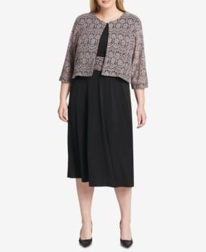 Jessica Howard Plus Size Dress and Lace Jacket