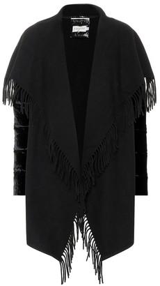 Moncler Wool and velvet jacket