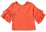 Copper Key Little Girls 4-6X Ruffle-Sleeve Knit Top
