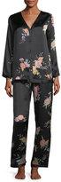 Josie Natori Midnight Garden Silk Pajama Set