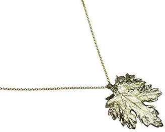 Gemshine - Necklace - Pendant - 18k Gold plated - Natural Chrysanthemum Leaf