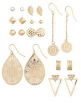 Topshop Set of 10 Mixed Shape Earrings