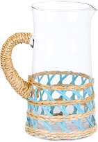 Amanda Lindroth Large Light Blue Seagrass Wrapped Pitcher