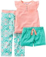 Carter's Girls 4-14 Coral Geometric Pajama Set