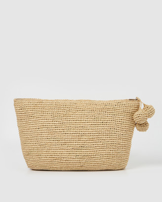 Arms Of Eve - Women's Neutrals Clutches - Tiana Woven Large Bag - Light Natural - Size One Size at The Iconic