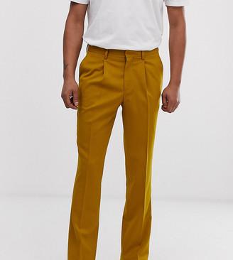 Heart N Dagger slim fit smart trousers in mustard-Yellow