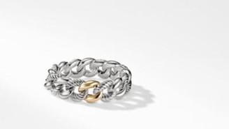 David Yurman Belmont Curb Link Bracelet With 18K Gold, 18Mm