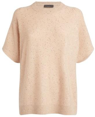 Fabiana Filippi Sequin Poncho Sweater