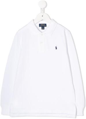 Ralph Lauren Kids Long-Sleeved Logo Polo Shirt