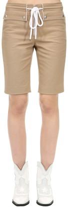 Courreges Cotton Biker Shorts W/ Drawstring