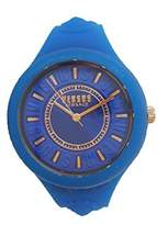 Versus By Versace Women's 'FIRE ISLAND' Quartz Stainless Steel and Silicone Casual Watch, Color:Blue (Model: SOQ150017)