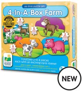 My First Puzzle Sets - 4 In A Box Farm Animals