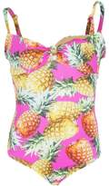 Submarine Pineapple Printed Tie Tank Swimsuit