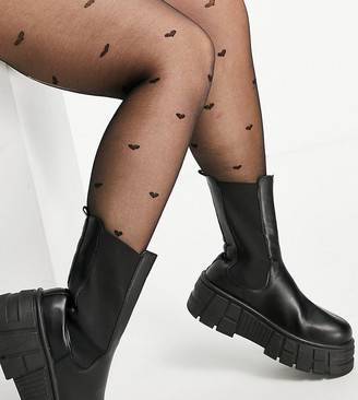 ASOS DESIGN Curve 20 denier all over heart tights