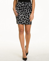 Le Château Giraffe Print Stretch Woven Mini Skirt