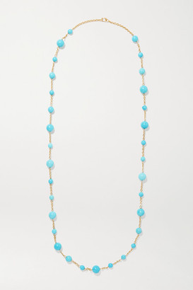 Irene Neuwirth Gumball 18-karat Gold Turquoise Necklace