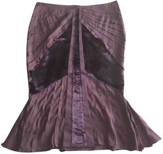 Gucci Purple Silk Skirt for Women Vintage