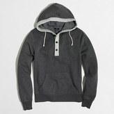 J.Crew Factory Fleece henley hoodie