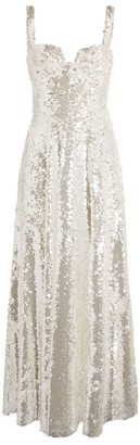 Sandra Mansour Sequin Sleeveless Gown