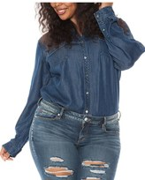 Plus Size Women's Slink Jeans Tencel Denim Western Shirt