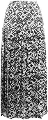 Rixo Tina square print skirt
