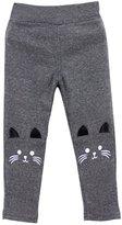 Jlong Toddler Baby Girl Lovely Cat Tight Stretch Winter Warm Leggings Pants