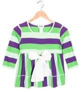 Rykiel Enfant Girls' Striped Bow-Adorned Top