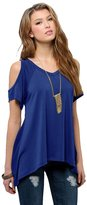 Urban CoCo Women's Vogue Shoulder Off Wide Hem Design Top Shirt (M, )