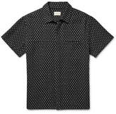 Simon Miller Polka-Dot Cotton and Linen-Blend Shirt