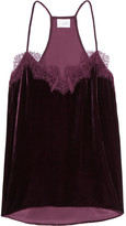 Cami NYC The Racer Lace-trimmed Velvet Camisole