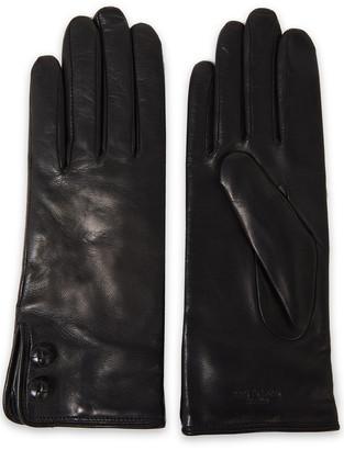 Rag & Bone Snap-detailed Leather Gloves
