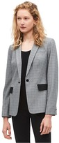 Calvin Klein Single Button Glen Plaid Blazer