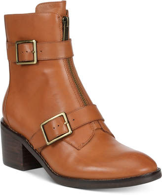 Donald J Pliner Dusten Leather Booties Women Shoes