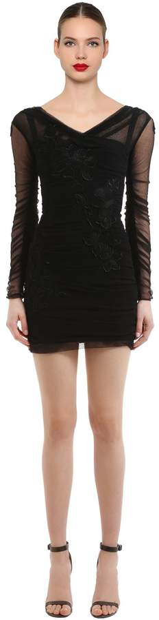 Dolce & Gabbana Embroidered Sheer Tulle Dress