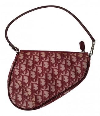 Christian Dior Saddle Burgundy Cloth Clutch bags