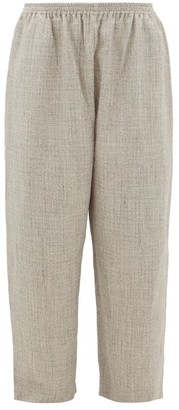 eskandar Wide-leg Alpaca-blend Tweed Trousers - Light Grey