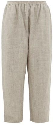 eskandar Wide-leg Alpaca-blend Tweed Trousers - Womens - Light Grey