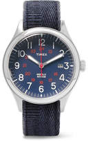Timex Waterbury United Stainless Steel And Stonewashed-Canvas Watch