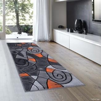 Orange/Gray Rug AllStar Rugs Rug Size: Runner 2' x 7'