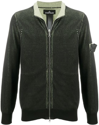 Stone Island Shadow Project Zip Up Ink-Dyed Sweater