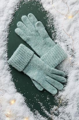 Anthropologie Lyla Shimmer Gloves By in Black