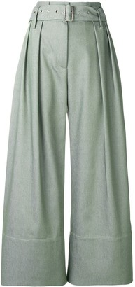 Eudon Choi Cropped Palazzo Trousers