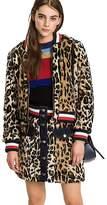 Tommy Hilfiger Faux Leopard Fur Jacket