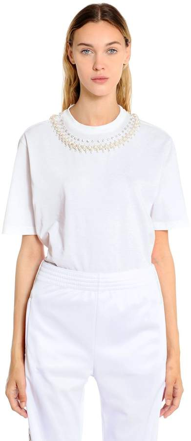 Givenchy Embellished Cotton Jersey T-Shirt